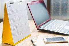 De spiraalvormige kalender 2017 van het Witboekbureau Royalty-vrije Stock Fotografie