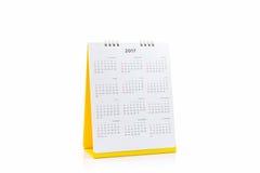 De spiraalvormige kalender 2017 van het Witboekbureau Stock Fotografie