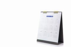 De spiraalvormige kalender 2018 van het Witboekbureau Royalty-vrije Stock Foto