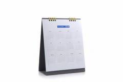 De spiraalvormige kalender 2018 van het Witboekbureau Stock Fotografie