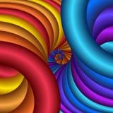 De spiraalvormige spleet van Rainbw vector illustratie