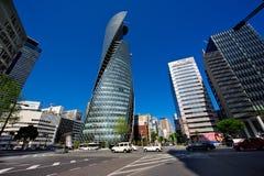 De Spiraalvormige Torens van Gakuen van de wijze Stock Afbeeldingen