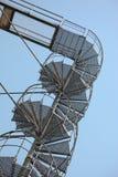 De spiraalvormige treden van het metaal Stock Foto