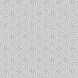 De spiraalvormige Wervelingssamenvatting trekt van het de Lijn Naadloze Patroon van de Ornamentbloem de Bloemen Vectorillustratie Stock Afbeeldingen