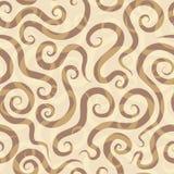 De spiralen schuren naadloos patroon Royalty-vrije Stock Afbeelding