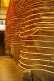 De spiralen van de wierook, de tempel van Kun Iam, Macao. stock afbeelding