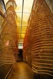 De spiralen van de wierook, de tempel van Kun Iam, Macao. stock foto's