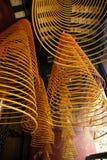 De spiralen van de wierook, Kun iam tempel, Macao. royalty-vrije stock foto
