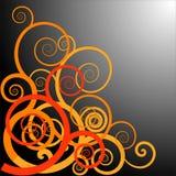 De spiralen van het ulumotief van de orang-oetan Stock Fotografie