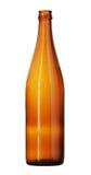De spitse Fles van het Hals Bruine die Glas op witte achtergrond wordt geïsoleerd Royalty-vrije Stock Fotografie