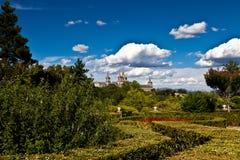 De Spitsen van het Klooster van San Lorenzo DE Gr Escorial, Spanje Stock Foto's