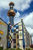 De Spittelau-verbrandingsinstallatie in Wenen, Oostenrijk Royalty-vrije Stock Afbeelding