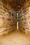 De spleet van de het kasteelpijl van Guedelon Stock Afbeelding