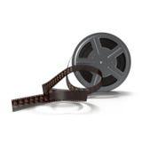 De spoel van de filmfilm op witte 3D Illustratie Stock Foto's