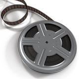 De spoel van de filmfilm op witte 3D Illustratie Royalty-vrije Stock Fotografie