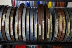 De Spoelen van de bioskoopfilm Stock Afbeeldingen
