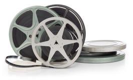 De spoelen van de film stock afbeeldingen