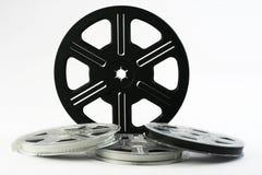De spoelen van de film met films 8 Stock Afbeelding