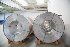 De spoelen van het aluminium stock foto's