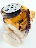 De spoelfilm van de film stock foto