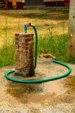 De spoelmuur van de waterslang Nadat de analyse wordt voltooid stock foto's
