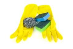 De sponsen van de keuken voor het schoonmaken van werktuig Royalty-vrije Stock Foto
