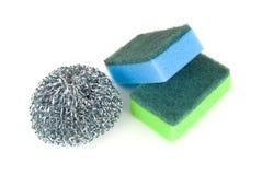 De sponsen van de keuken voor het schoonmaken van werktuig Royalty-vrije Stock Afbeelding