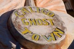 De Spookstad van het calico Royalty-vrije Stock Fotografie