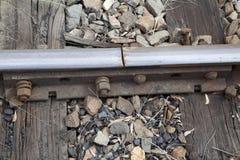 De spoorlijn treedt toe Stock Afbeelding
