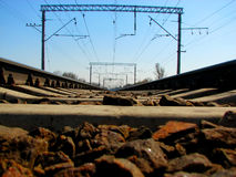 De spoorweg Royalty-vrije Stock Foto's