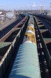 De spoorweg Stock Afbeeldingen