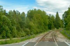 De spoorweg aan nergens stock foto