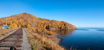 De spoorweg circum-Baikal Stock Fotografie