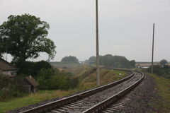 De spoorweg gaat ooit en Royalty-vrije Stock Foto