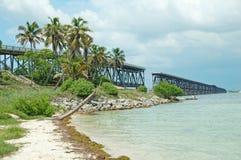 De Spoorweg van Bahia Honda Flagler Stock Fotografie