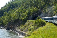 De Spoorweg van de Baykal Stock Afbeelding