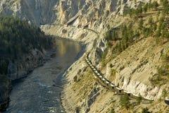 De Spoorweg van de canion Royalty-vrije Stock Foto's