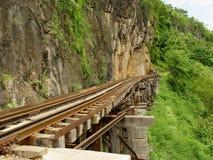 De Spoorweg van de dood dichtbij Hol Krasae. Royalty-vrije Stock Fotografie