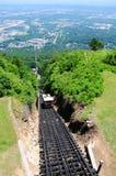 De Spoorweg van de helling stock foto