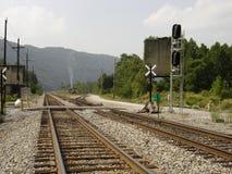 De spoorweg van de Kanawhavallei stock foto's