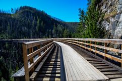 De Spoorweg van de ketelvallei Stock Afbeelding