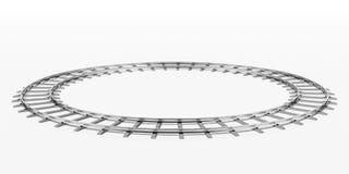 De spoorweg van de ring Stock Afbeeldingen
