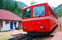 De Spoorweg van de Tram van de berg stock foto's