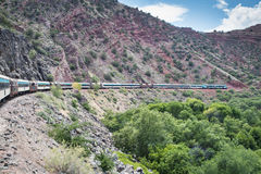 De Spoorweg van de Verdecanion Royalty-vrije Stock Foto's