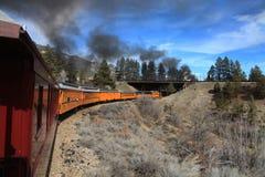De Spoorweg van durango en Sliverton- Stock Foto's