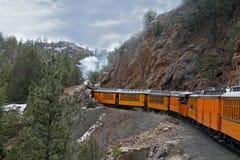 De Spoorweg van durango en Sliverton- stock afbeelding
