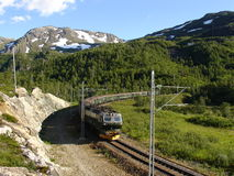 De spoorweg van Flam. Noorwegen. Royalty-vrije Stock Foto's