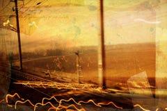 De spoorweg van Grunge vector illustratie