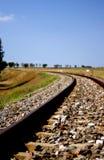 De spoorweg van het platteland Royalty-vrije Stock Afbeeldingen