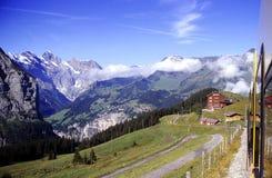 De spoorweg van Jungfraujoch Stock Fotografie